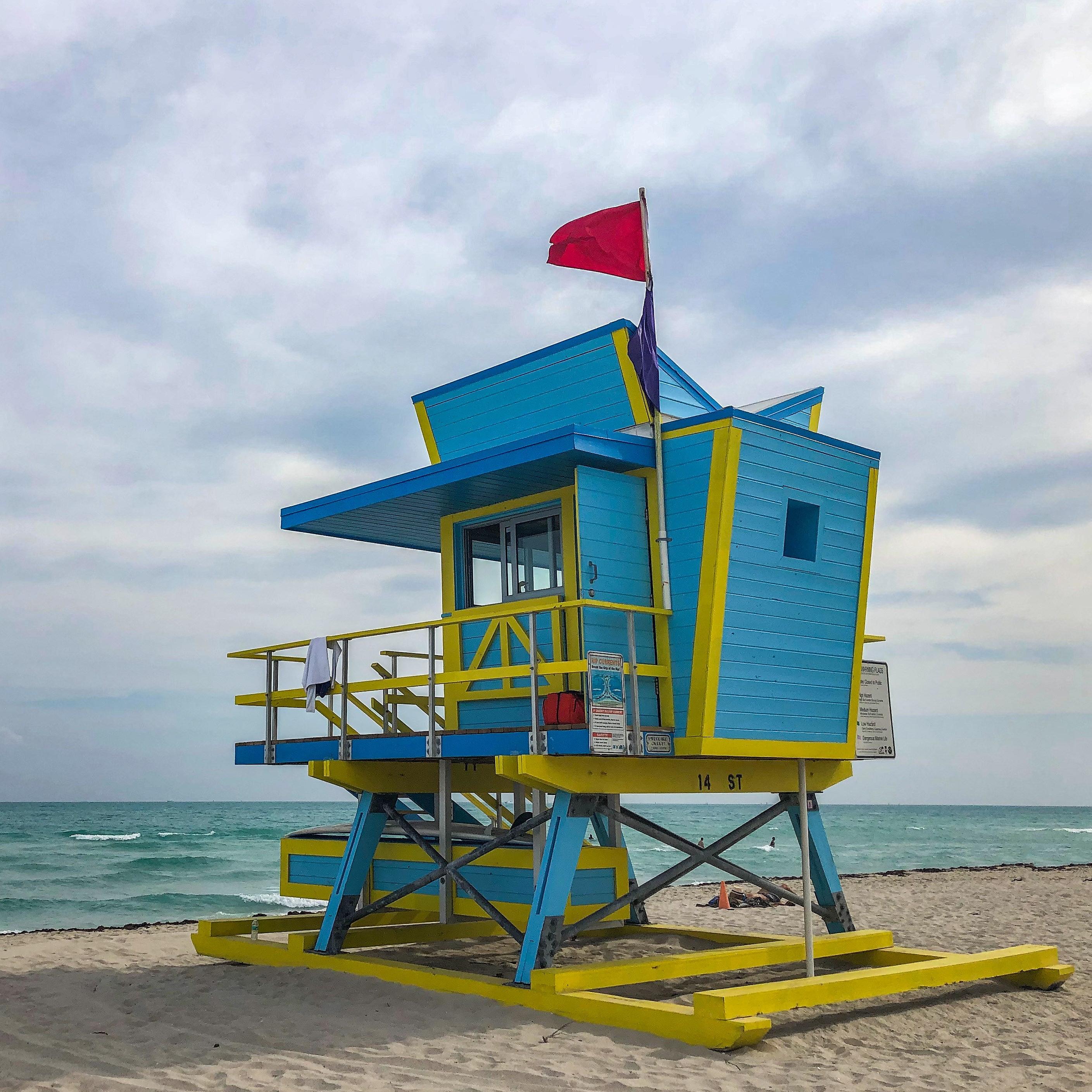 Christmas Tree Lane Los Angeles: Lifeguard Tower Miami Beach Florida
