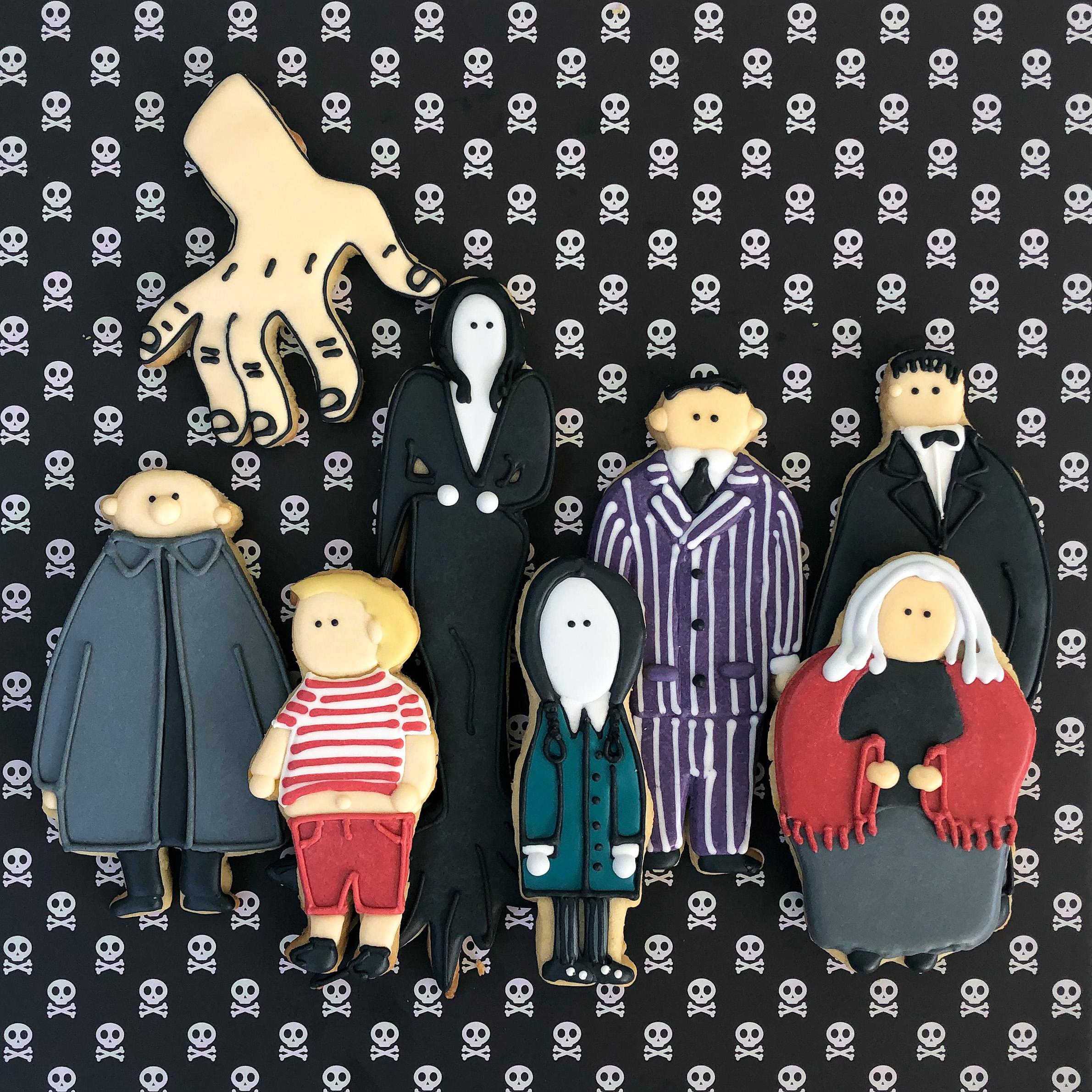 Christmas Tree Lane Los Angeles: Addams Family Portrait Cookies –