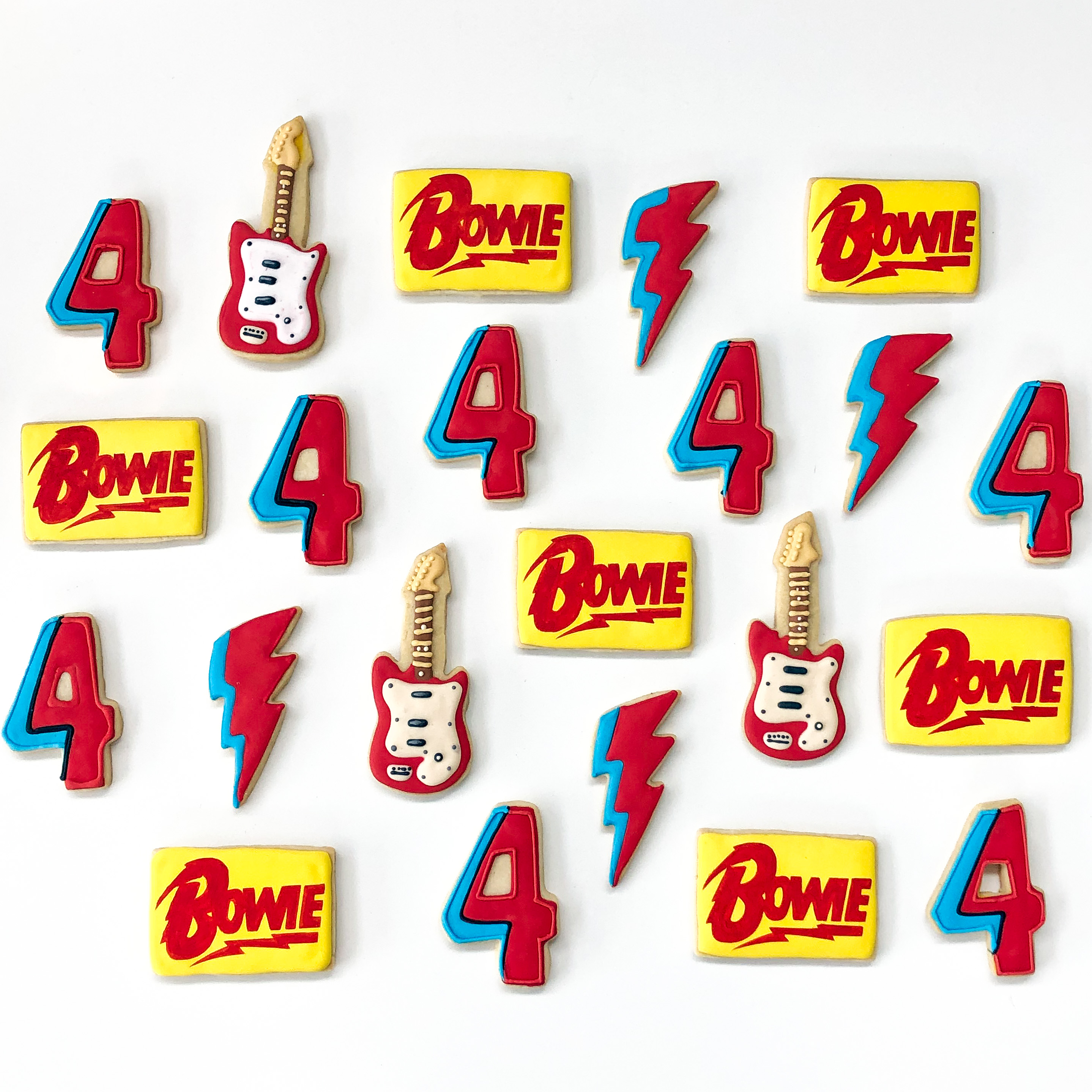 David Bowie Cookies Los Angeles California Hilarystyle